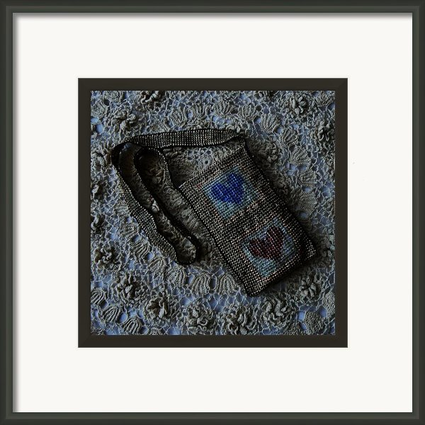 Two Heart Jewelry Bag Framed Print By Barbara St Jean