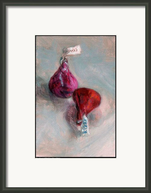 Two Kisses Framed Print By Diana Moses Botkin