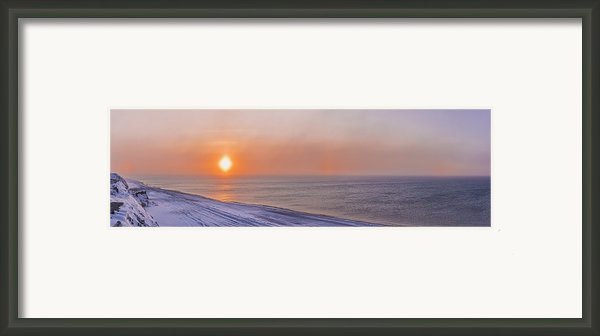 Two Sundogs Hang In The Air Over The Framed Print By Kevin Smith
