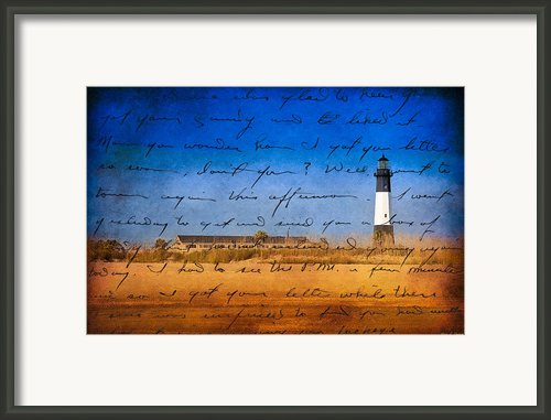 Tybee Island Lighthouse - A Sentimental Journey Framed Print By Mark E Tisdale