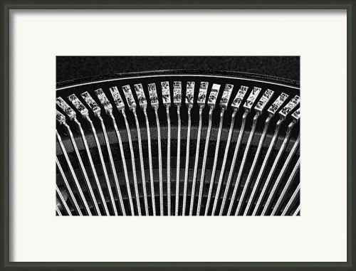 Typewriter Keys Iii Framed Print By Tom Mc Nemar