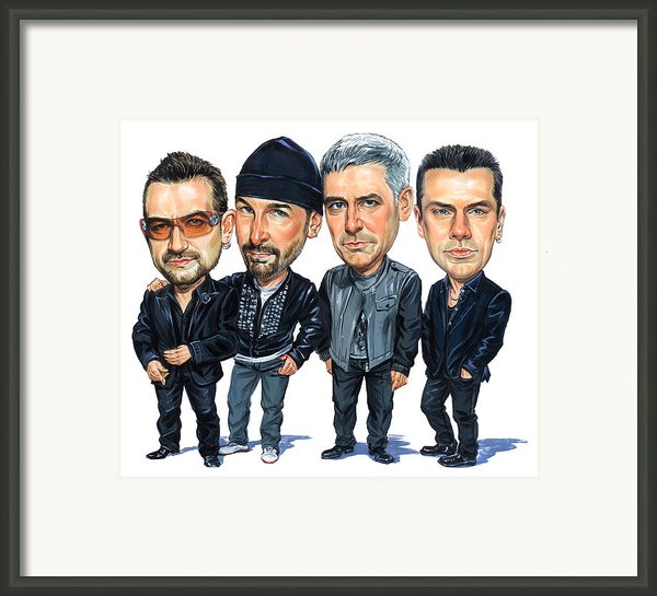 U2 Framed Print By Art
