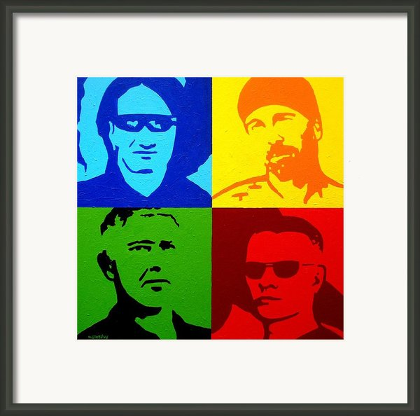 U2 Framed Print By John  Nolan