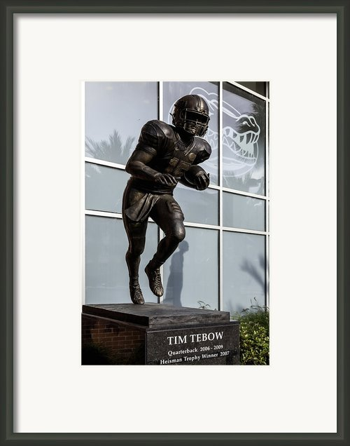 Uf Heisman Winner Tim Tebow  Framed Print By Lynn Palmer