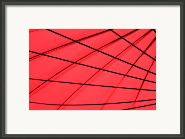 Umbrella Abstract Framed Print By Tony Grider