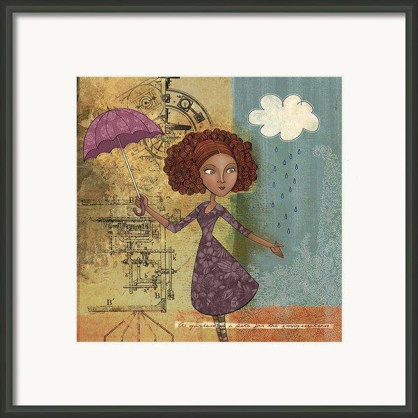 Umbrella Girl Framed Print By Karyn Lewis Bonfiglio