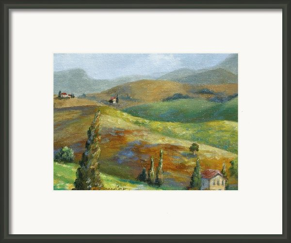 Umbrian Countryside Framed Print By Chris Brandley