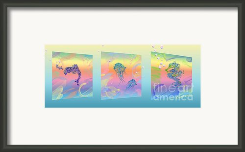 Under The Sea Triptych Framed Print By Cheryl Young