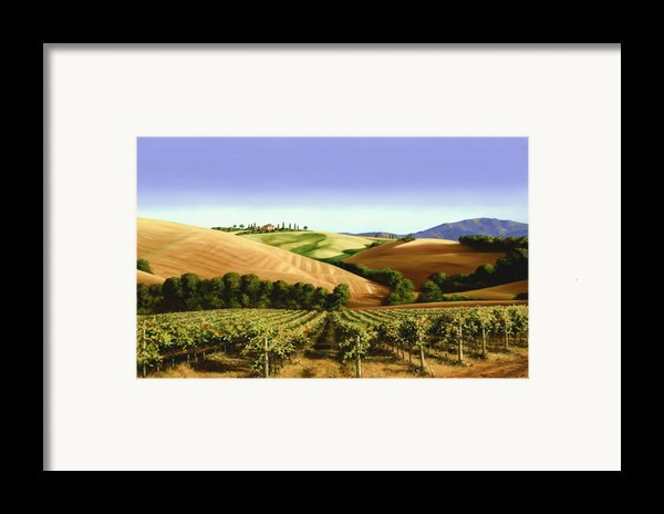 Under The Tuscan Sky Framed Print By Michael Swanson