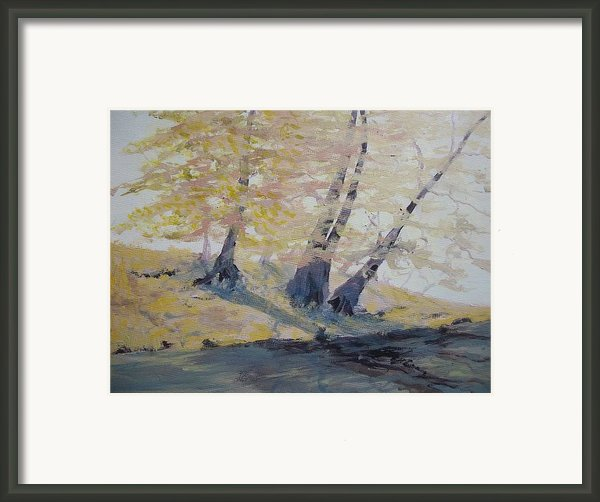 Undercut Bank Framed Print By Dwayne Gresham