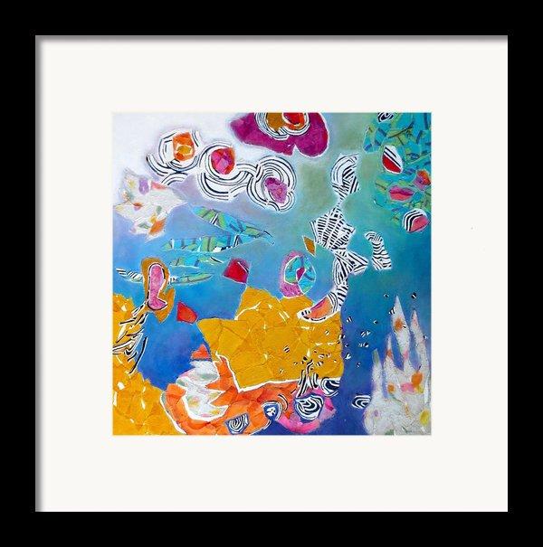 Underwater Flowers Framed Print By Diane Fine