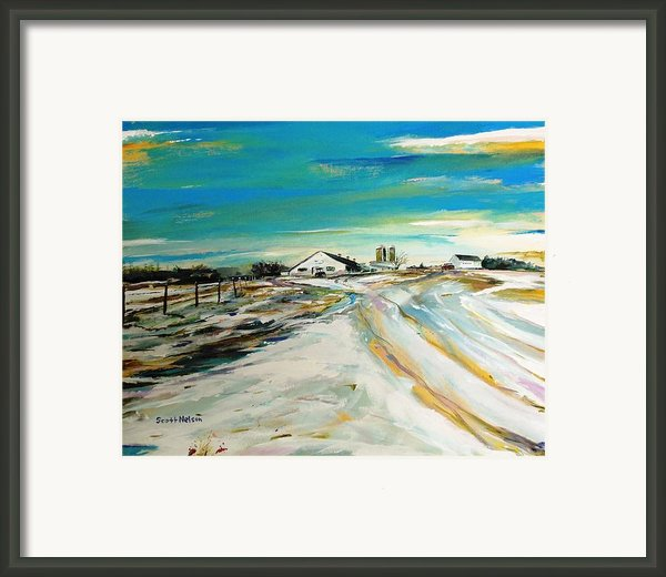 Unexpected Dusting Sutton Ma Framed Print By Scott Nelson