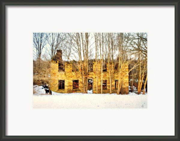Unexpected Visitor  Framed Print By Emily Stauring