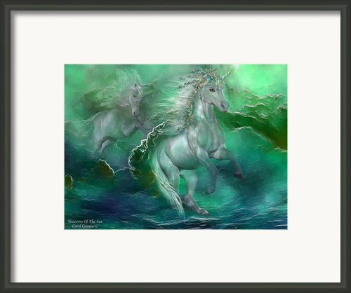 Unicorns Of The Sea Framed Print By Carol Cavalaris