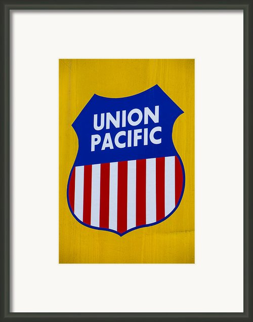 Union Pacific Raolroad Sign Framed Print By Garry Gay