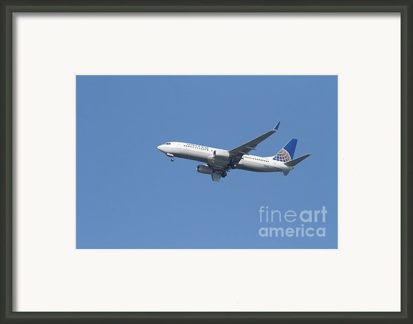 United Airlines Jet 7d21942 Framed Print By Wingsdomain Art And Photography