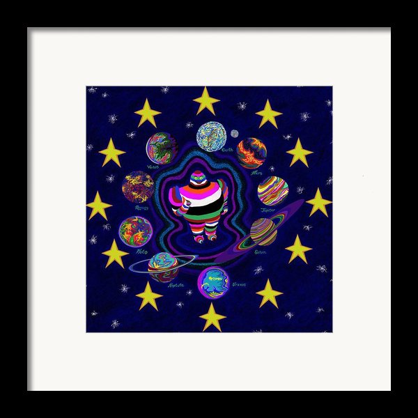 United Planets Of Eurotrazz Framed Print By Robert  Sorensen