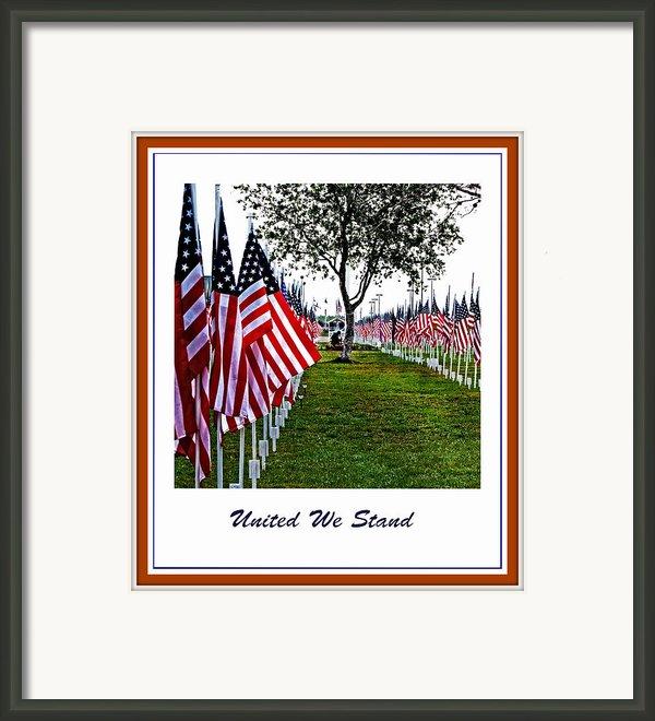 United We Stand Framed Print By Ella Kaye