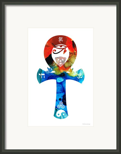 Unity 16 - Spiritual Artwork Framed Print By Sharon Cummings