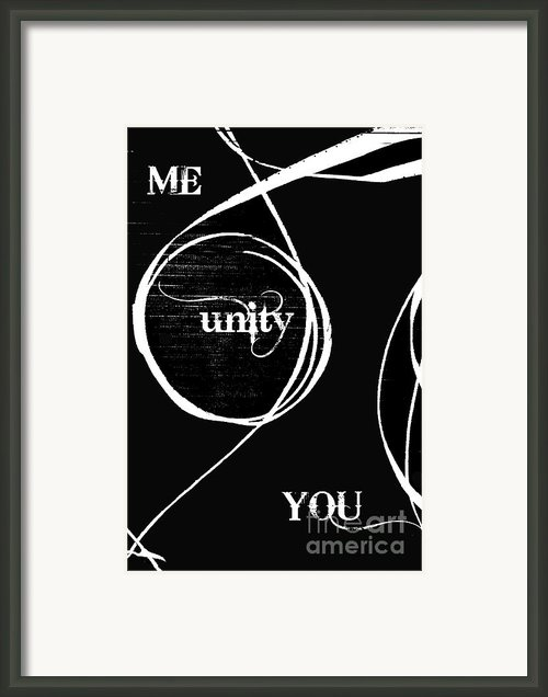 Unity  Me And You Framed Print By Anahi Decanio