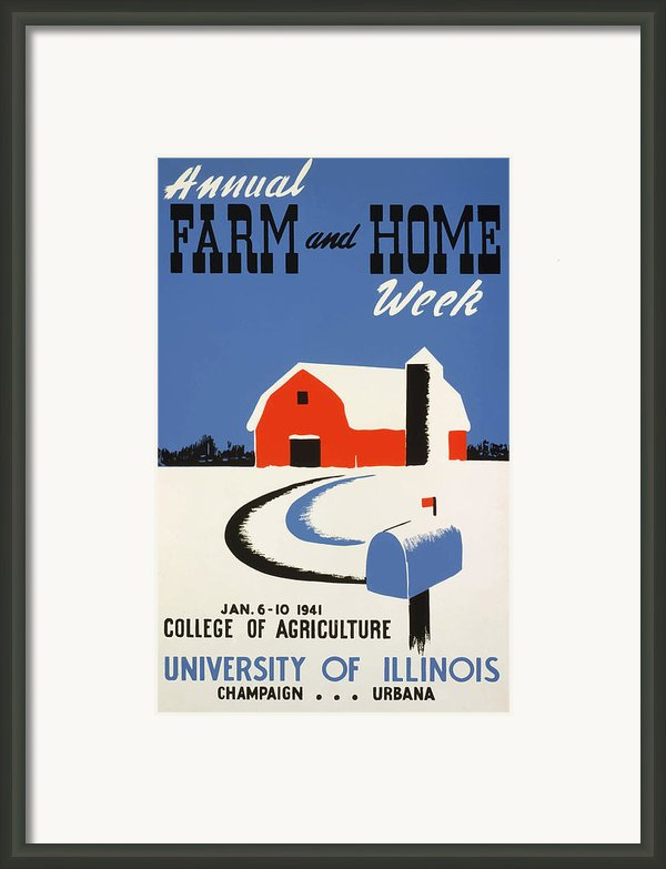 University Of Illnois Farm And Home Week Framed Print By American Classic Art