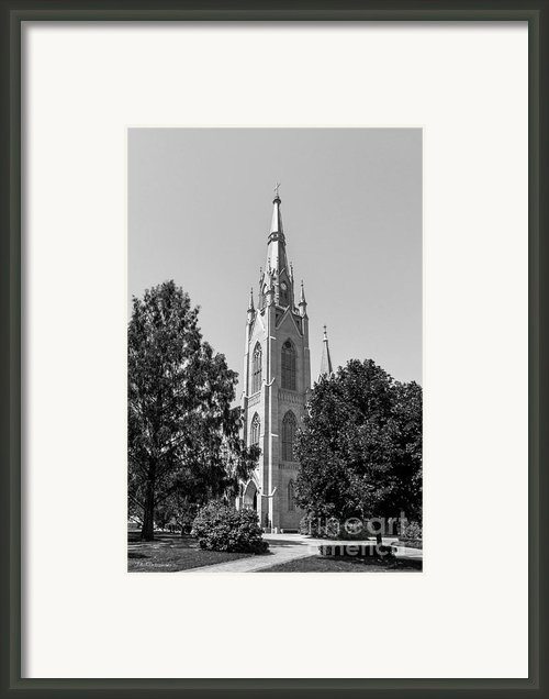 University Of Notre Dame Basilica Of The Sacred Heart Framed Print By University Icons