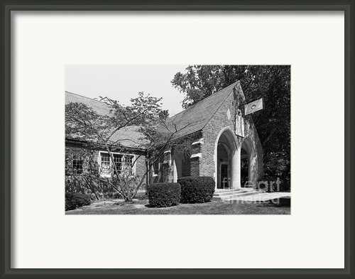 University Of Notre Dame Knights Of Columbus Council Hall Framed Print By University Icons