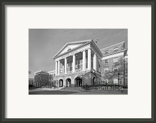 University Of Wisconsin Madison Bascom Hall Framed Print By University Icons