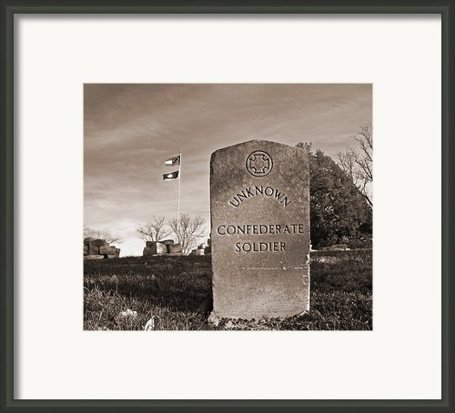 Unknown Soldier Framed Print By Steven  Michael