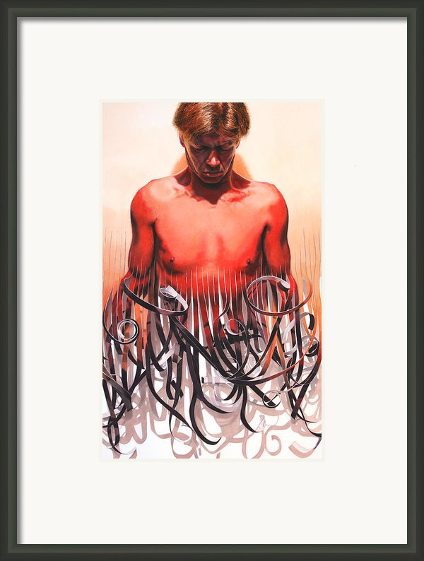 Unraveled Framed Print By Denny Bond