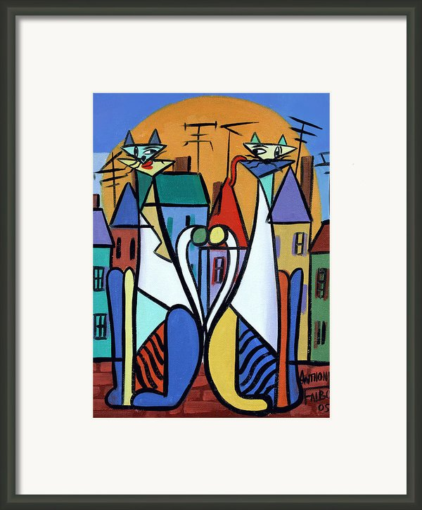 Up On The Roof Framed Print By Anthony Falbo