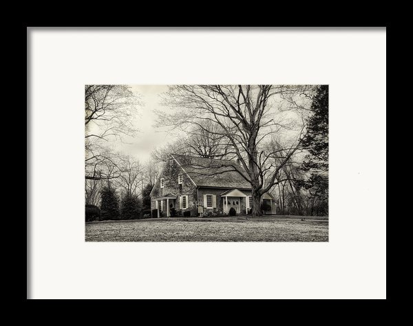 Upper Dublin Meetinghouse In Sepia Framed Print By Bill Cannon