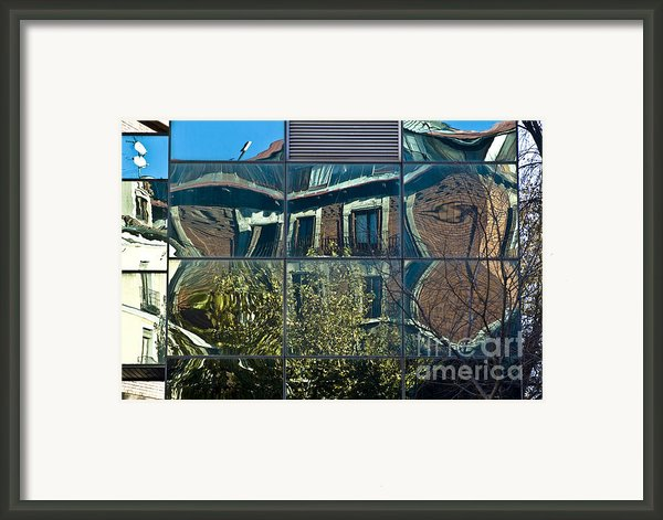 Urban Reflections Madrid Framed Print By Frank Tschakert