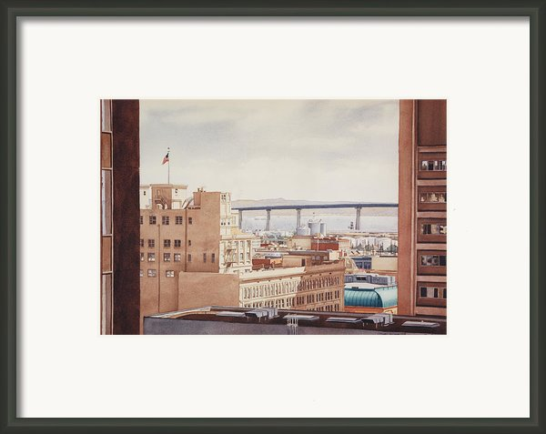 Us Grant Hotel In San Diego Framed Print By Mary Helmreich