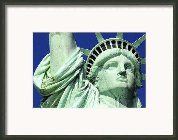 Usa, New York City, Statue Of Liberty � Framed Print By Tips Images