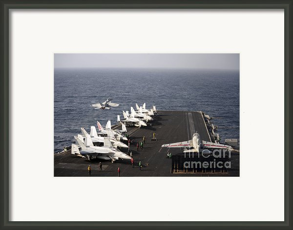 Uss Enterprise Conducts Flight Framed Print By Stocktrek Images
