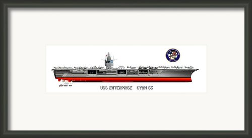 Uss Enterprise Cvn 65 1971-73 Framed Print By George Bieda