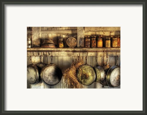 Utensils - Old Country Kitchen Framed Print By Mike Savad
