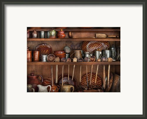 Utensils - What I Found In A Cabinet Framed Print By Mike Savad