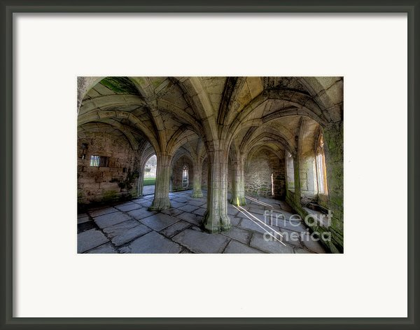 Valle Crucis Chapter House  Framed Print By Adrian Evans