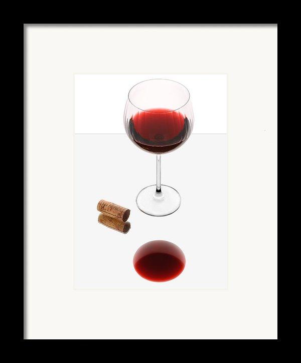 Vampire Wine Glass Framed Print By Dennis James