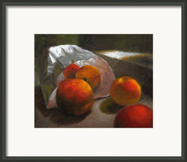 Vanzant Peaches Framed Print By Timothy Jones