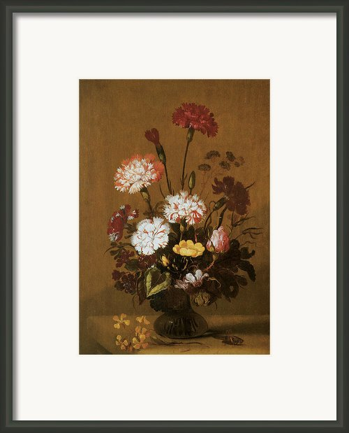 Vase Of Flowers Framed Print By Hans Bollongier