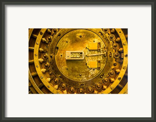 Vault Door Framed Print By Eric Bott