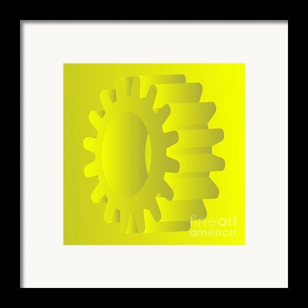 Vector Gears Framed Print By Michal Boubin