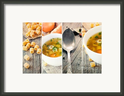 Vegetable Soup Collage Framed Print By Mythja  Photography