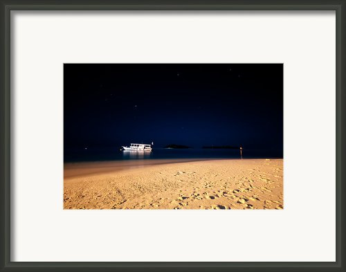 Velvet Night On The Island Framed Print By Jenny Rainbow