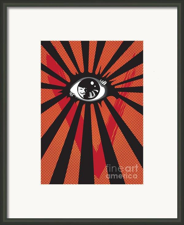 Vendetta2 Eyeball Framed Print By Sassan Filsoof