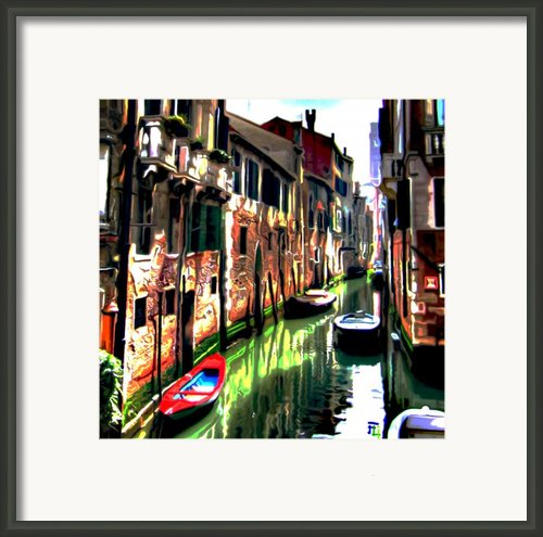 Venice Canal Framed Print By Byron Fli Walker