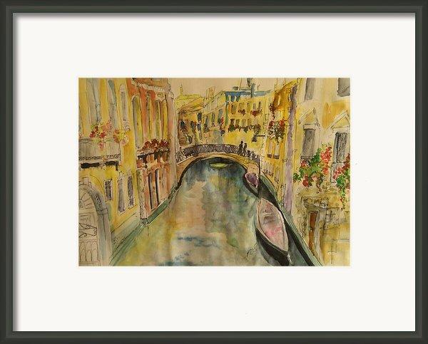 Venice I. Framed Print By Paula Steffensen